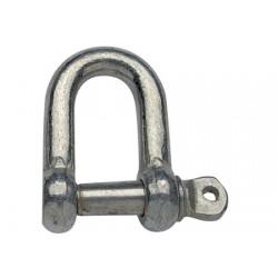 Manille D en acier galvanisé 12 x 24 mm