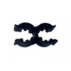 Clips doubles noirs 18/25mm pour les échelles pliantes