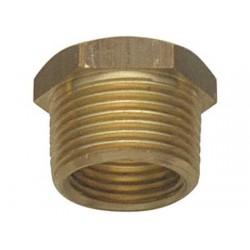 """Raccord de douille de tuyau hexagonal mâle-femelle en laiton 1 / 2"""" x 3 / 8"""""""