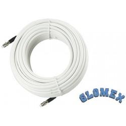 Câble VHF Glomex Ra350/18fme Rg-8x Coax 18mt